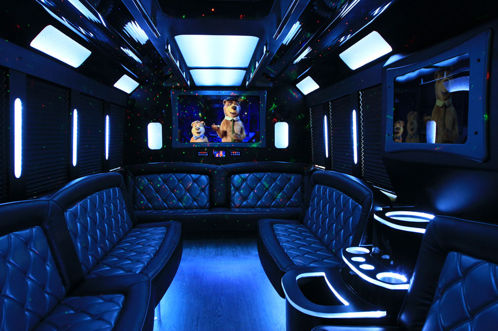 Black Limo Van interior5