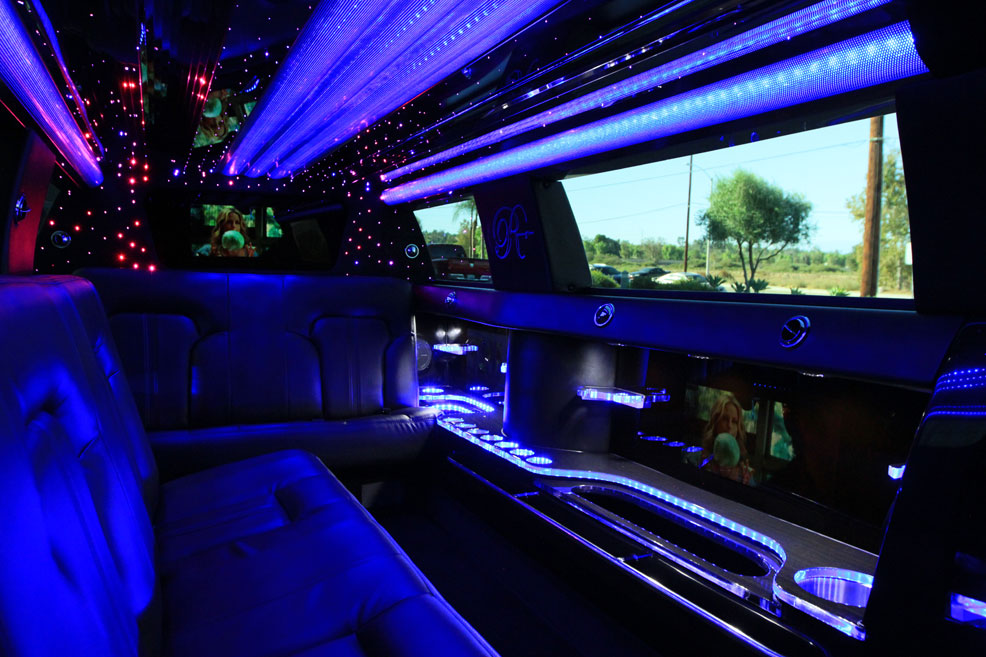 Limousine interior TV screen 1