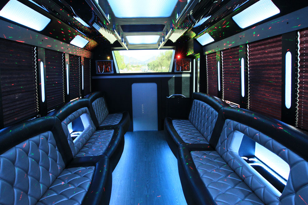 Black limo interior10