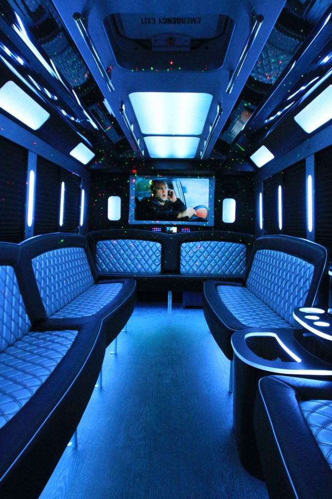 Limo Van interior with screen3