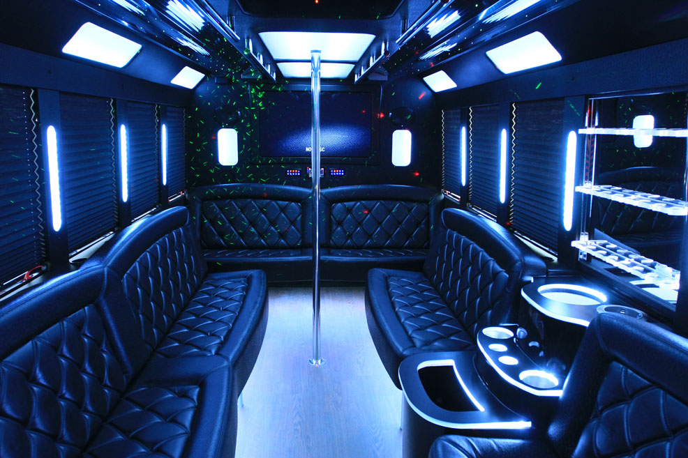Limo Van interior with screen1