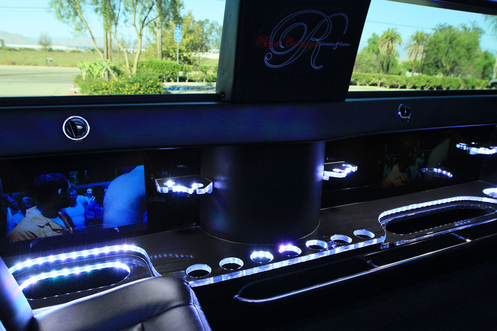 limo car Inside the armored limo