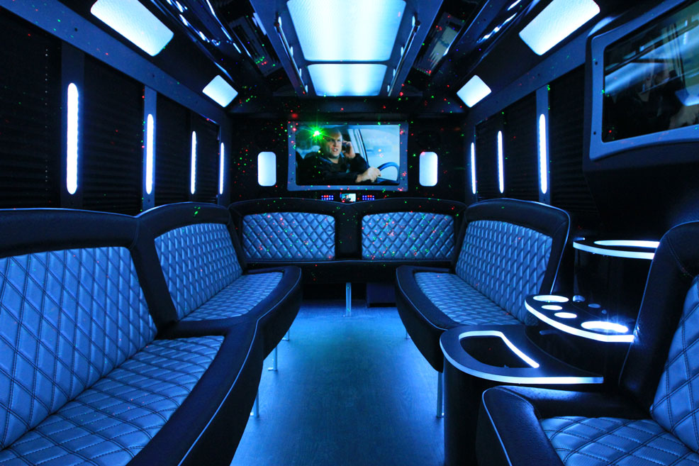 Black Limo Van interior