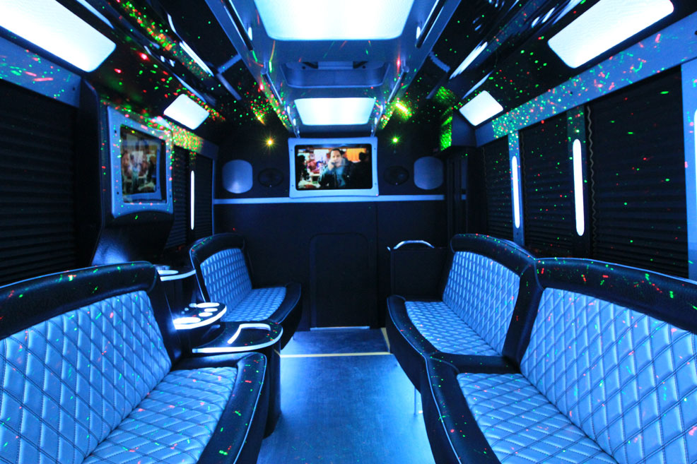 Black Limo Van interior4