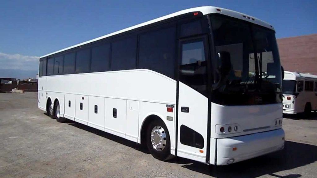 Limo white bus
